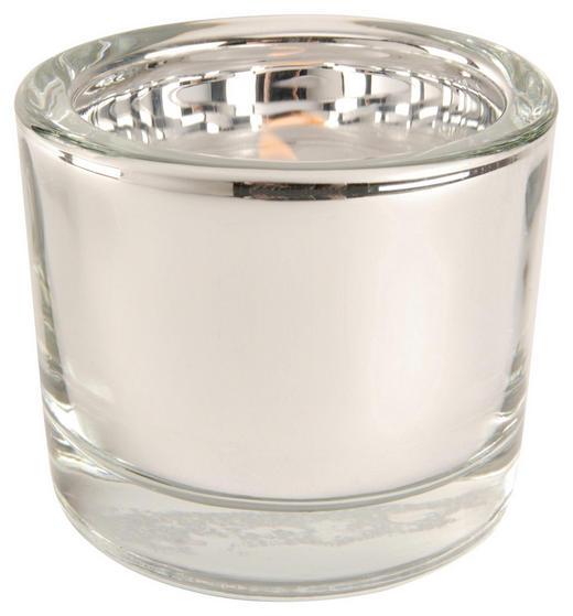 WINDLICHT - Silberfarben, Design, Glas (6,5/5,7cm)