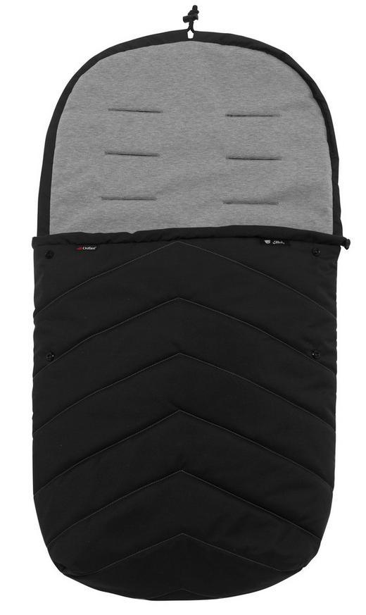 Sommerfußsack - Schwarz, Basics, Textil (90x47cm) - Alvi