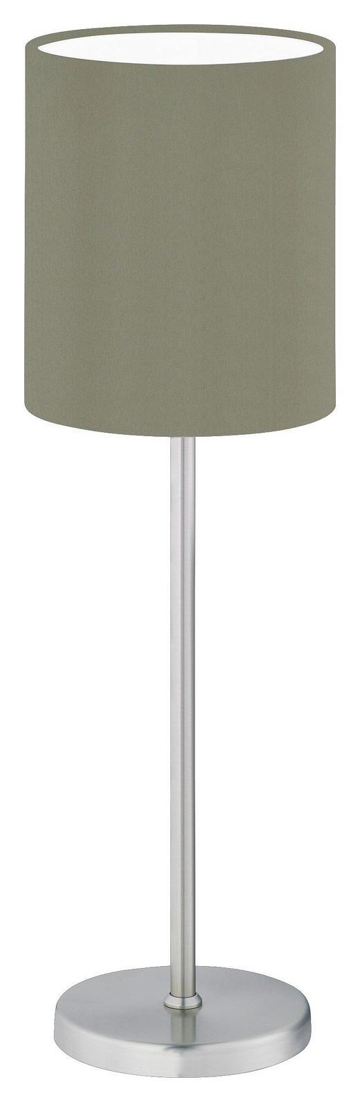 TISCHLEUCHTE - Braun/Grau, KONVENTIONELL, Textil/Metall (39cm)