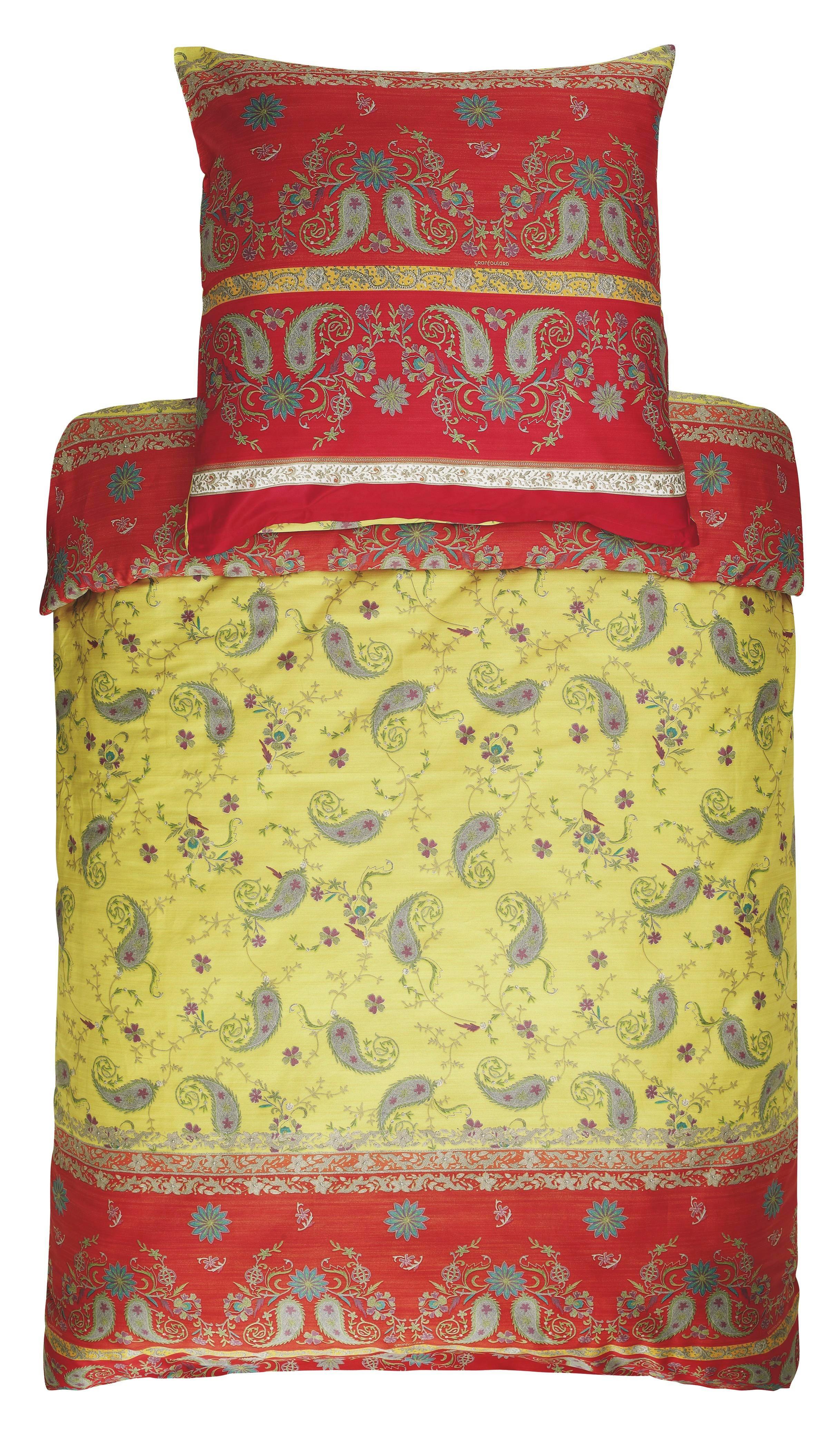 BETTWÄSCHE Gelb, Rot - Gelb/Rot, LIFESTYLE, Textil (155/220cm) - BASSETTI