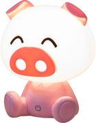 DĚTSKÁ STOLNÍ LAMPA - pink, Design, umělá hmota (19/19/14cm)