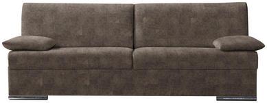 SCHLAFSOFA in Textil Braun  - Chromfarben/Braun, KONVENTIONELL, Textil/Metall (220/88/90cm) - Novel