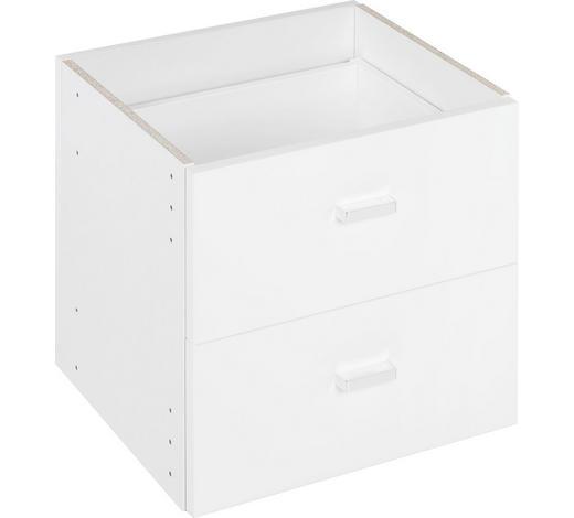 NÁSTAVEC NA ZÁSUVKY, bílá - bílá, Design, kompozitní dřevo (35/35/33cm)