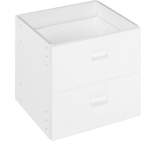 SCHUBKASTENEINSATZ - Weiß, Design, Holzwerkstoff (35/35/33cm)