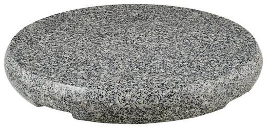 SONNENSCHIRMSTÄNDER Granit Grau, Schwarz, Weiß - Schwarz/Weiß, Basics, Stein (73/9cm) - Glatz