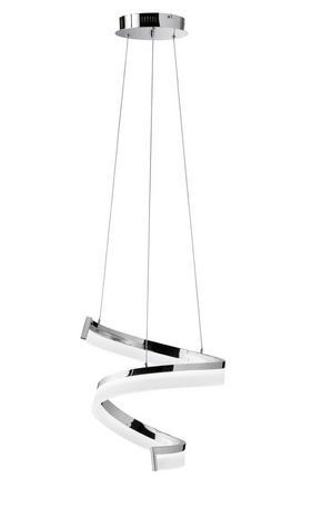 LED-PENDELLAMPA - kromfärg, Design, metall/glas (36/150/36cm) - Ambiente