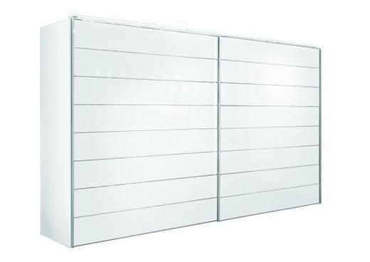 SKJUTDÖRRSGARDEROB - vit/kromfärg, Design, metall/glas (331/240/68cm) - NOVEL