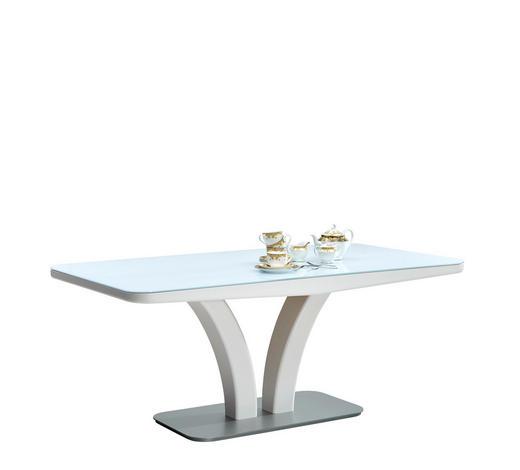 ESSTISCH rechteckig Weiß - Weiß, Design, Glas/Holzwerkstoff (180/95/75cm) - Moderano
