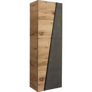 GARDEROBENSCHRANK Eiche furniert, mehrschichtige Massivholzplatte (Tischlerplatte) geölt Eichefarben, Grau - Eichefarben/Grau, Design, Holz/Stein (64/202/42,3cm) - VOGLAUER
