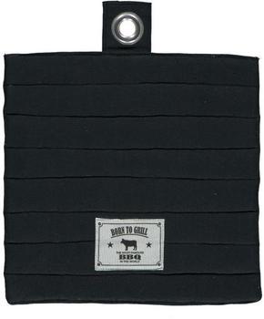 GRYTLAPP - svart, Basics, textil (20/20/0,75cm)
