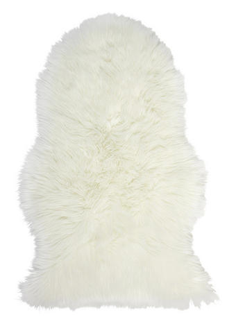 Schaffellimitat  Weiß  60/90 cm - Weiß, Basics, Textil (60/90cm) - BOXXX