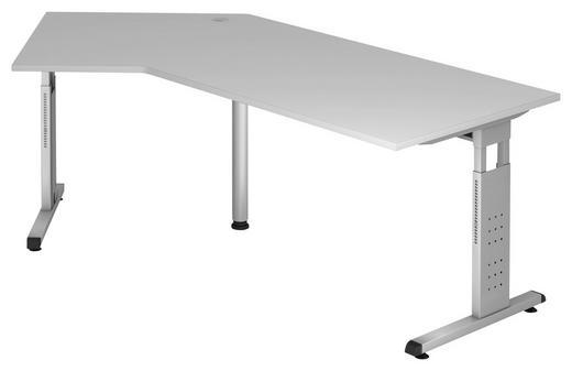 SCHREIBTISCH Grau - Silberfarben/Grau, KONVENTIONELL, Metall (200/65-85/120cm)