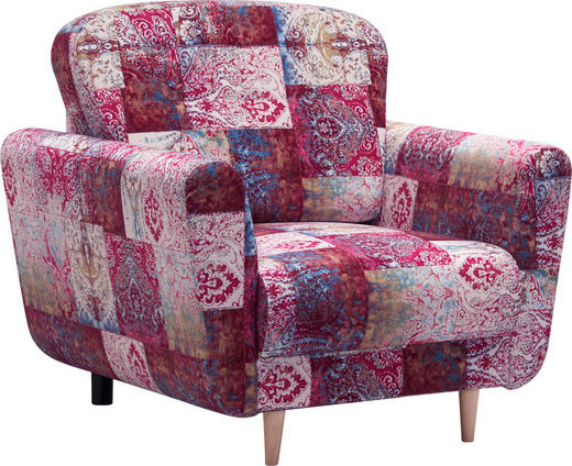 SESSEL in Textil Multicolor - Multicolor, Design, Holz/Textil (95/90/93cm) - Hom`in