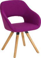 STUHL Wildeiche massiv Eichefarben, Violett - Eichefarben/Violett, Design, Holz/Textil (62/80/60cm) - VALNATURA