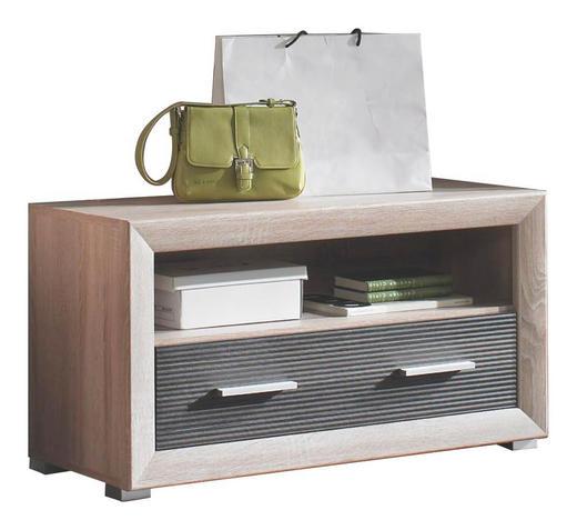 GARDEROBENBANK Pinienfarben, Sonoma Eiche - Silberfarben/Pinienfarben, Design, Kunststoff (90/48/39cm) - BOXXX