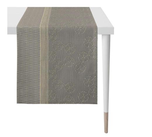 TISCHLÄUFER Textil Leinwand Braun, Multicolor  - Multicolor/Braun, Design, Textil (44x140cm) - Ambiente