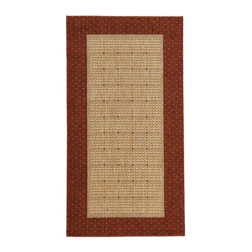 FLACHWEBETEPPICH  80/150 cm  Naturfarben, Terra cotta - Terra cotta/Naturfarben, Basics, Textil (80/150cm) - Boxxx