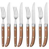 STEAKBESTECK 8-teilig - Braun, Design, Holz/Metall - WMF