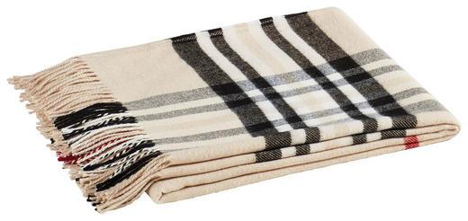 PLAID 130/170 cm Beige, Rot, Schwarz, Weiß - Beige/Rot, LIFESTYLE, Textil (130/170cm) - Ambiente