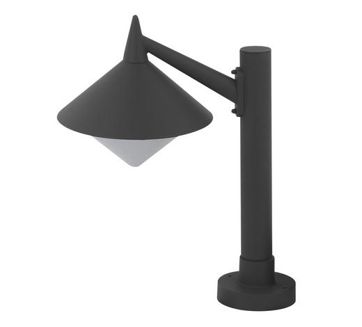 SOCKELLEUCHTE - Dunkelgrau, Design, Metall (26/58cm)