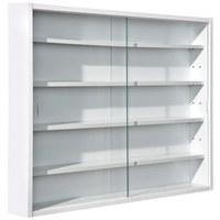 HÄNGEVITRINE Weiß - Weiß, KONVENTIONELL, Glas/Holzwerkstoff (80/60/9,5cm) - CARRYHOME