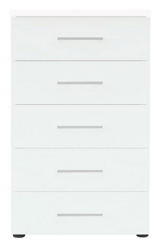 KOMMODE Weiß - Chromfarben/Schwarz, Design, Kunststoff/Metall (50/84/39,5cm) - Carryhome