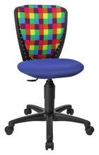 JUGENDDREHSTUHL Multicolor - Multicolor/Schwarz, Design, Kunststoff/Textil (43/81-94/39cm) - XORA