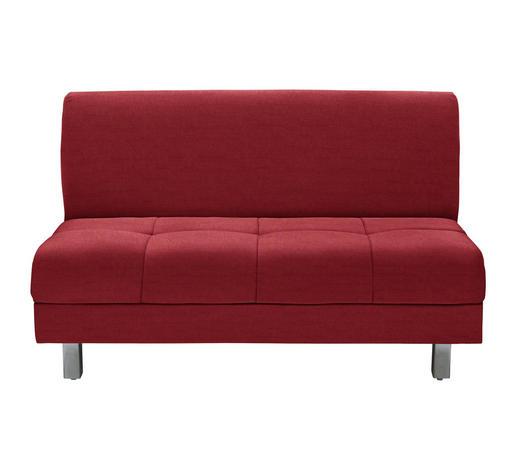 SCHLAFSOFA in Textil Rot  - Chromfarben/Rot, MODERN, Textil (144/90/103cm) - Novel