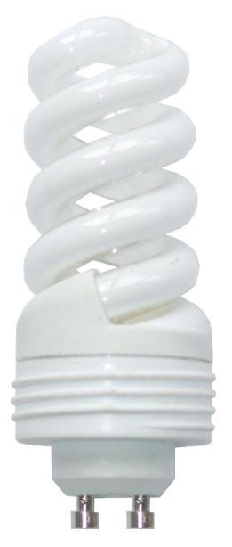Energiesparleuchtmittel GU10 - Weiß, Basics, Glas/Metall (3.6/95cm)