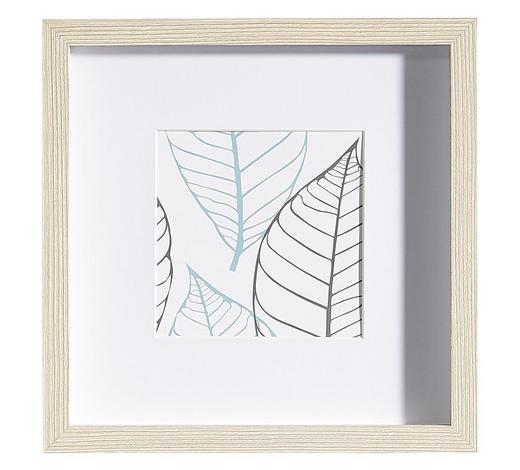 BILDERRAHMEN in Eichefarben - Eichefarben, Basics, Glas/Holz (25/25/3cm)