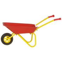 KINDERSCHUBKARRE - Gelb/Rot, Kunststoff/Metall (37/79cm)