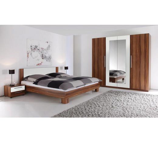 SPAVAĆA SOBA bijela, boje oraha   - bijela/boje oraha, Design, drvni materijal (180/200cm) - Boxxx