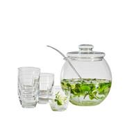 BOWLE-SET - Transparent, KONVENTIONELL, Glas - Homeware