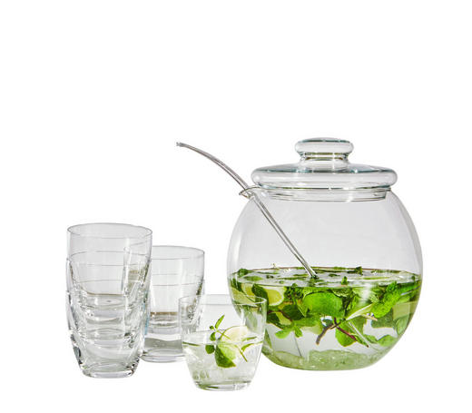 BOWLE-SET - Transparent, KONVENTIONELL, Glas - Homeware
