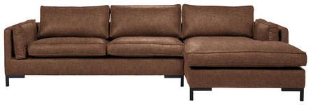 WOHNLANDSCHAFT in Textil Braun  - Schwarz/Braun, Design, Textil/Metall (295/160cm) - Hom`in