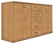KOMMODE Erle teilmassiv Erlefarben  - Erlefarben/Alufarben, KONVENTIONELL, Holz/Holzwerkstoff (135/78/41cm) - Venda