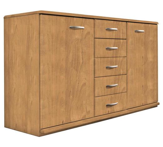 KOMMODE 135/78/41 cm - Erlefarben/Alufarben, KONVENTIONELL, Holz/Holzwerkstoff (135/78/41cm) - Venda