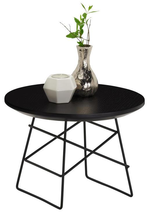 COUCHTISCH rund Schwarz - Schwarz, Design, Holz/Metall (35/25cm) - Innovation