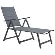 GARTENLIEGE 70/105/140 cm - Dunkelgrau/Anthrazit, Design, Textil/Metall (70/105/140cm) - Ambia Garden