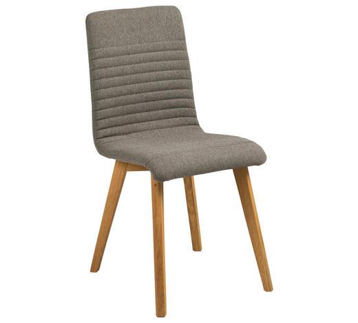 STUHL in Textil Eichefarben, Hellgrau  - Eichefarben/Hellgrau, Design, Holz/Textil (42/90/43cm) - Carryhome