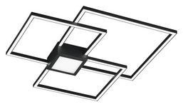 LED-DECKENLEUCHTE   - Anthrazit, Design, Kunststoff/Metall (65,5/65,5/6,5cm) - Novel