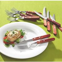 Steakbesteck - Braun, Lifestyle, Kunststoff/Metall - Homeware