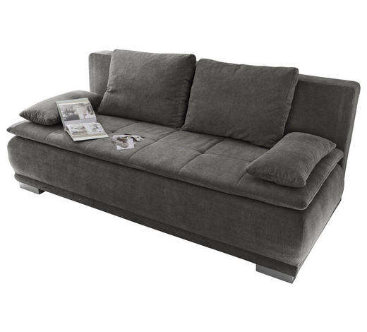 SCHLAFSOFA Grau  - Silberfarben/Grau, MODERN, Kunststoff/Textil (208/93/105cm) - Carryhome
