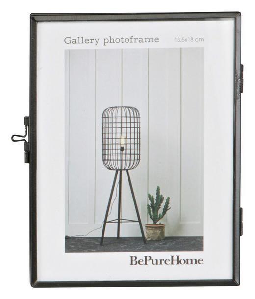 BILDERRAHMEN  Schwarz - Schwarz, Design, Glas/Metall (14,7/18/1,7cm) - Carryhome