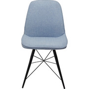 STOLICA - crna/svijetlo plava, Design, metal/tekstil (60/86/58cm) - Hom`in