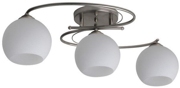PLAFONJERA - Bela/Boja nerđajućeg čelika, Konvencionalno, Metal/Staklo (51/35/14cm) - Boxxx