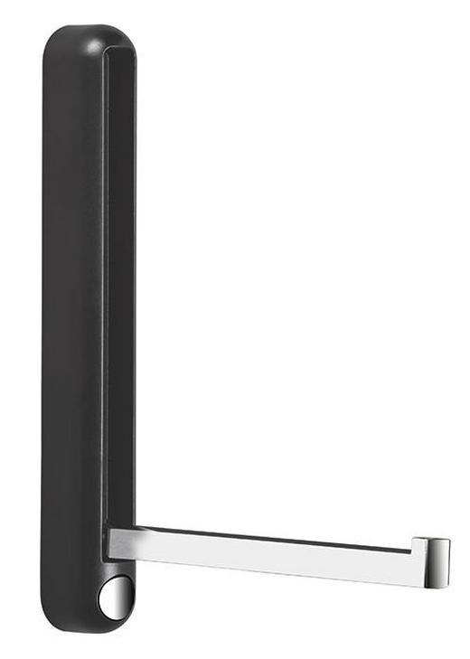 WANDHAKEN - Chromfarben/Anthrazit, Design, Kunststoff/Metall (2,8/22,5/3/20cm)