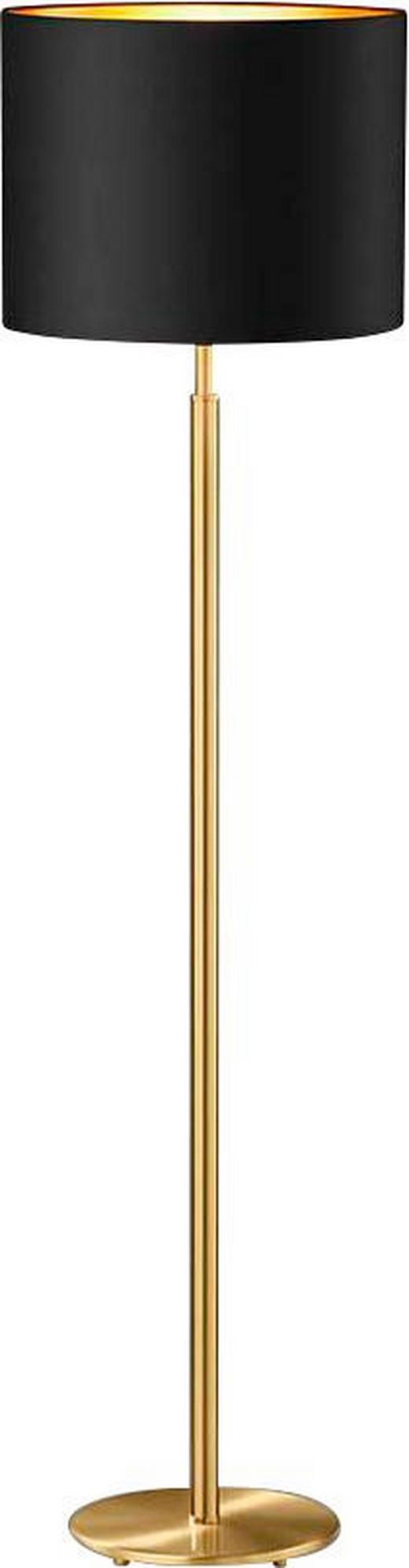 STEHLEUCHTE - Schwarz, KONVENTIONELL, Textil/Metall (1530cm)