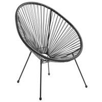 STUHL Grau, Schwarz - Schwarz/Grau, Design, Kunststoff/Metall (73/76/89cm)