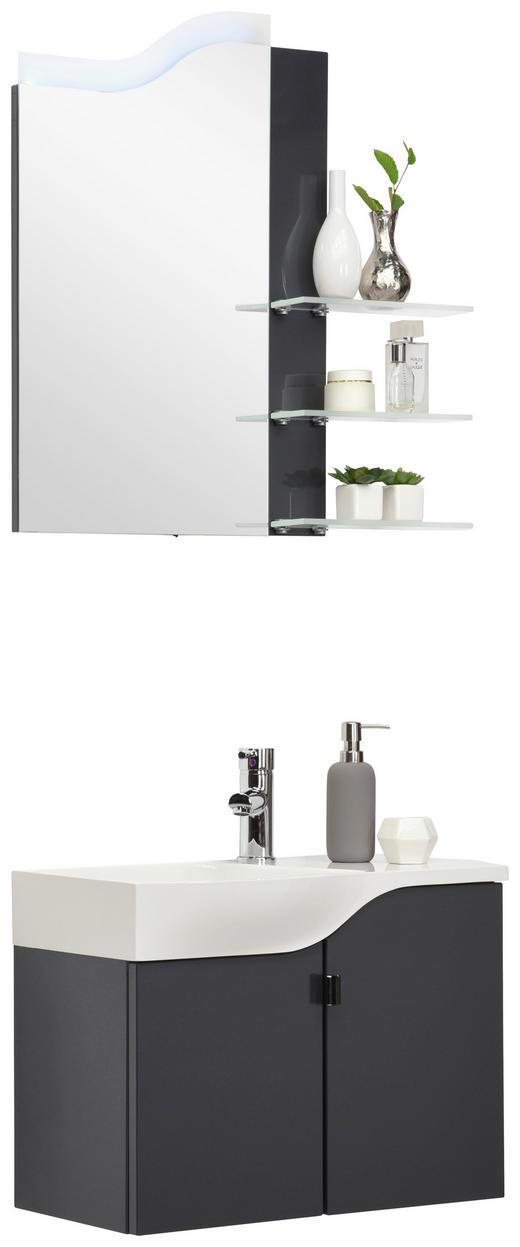 GÄSTEBAD - Anthrazit/Weiß, Design, Glas/Holzwerkstoff (60,4cm) - Welnova